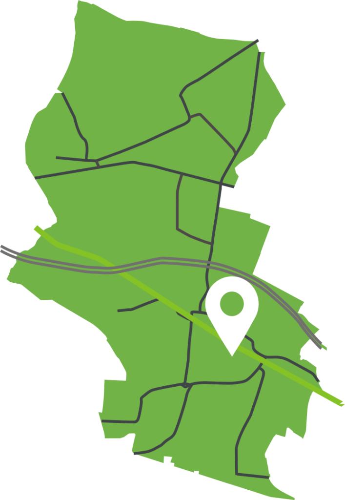 Umiejscowienie terenu w rejonie Wojska Polskiego
