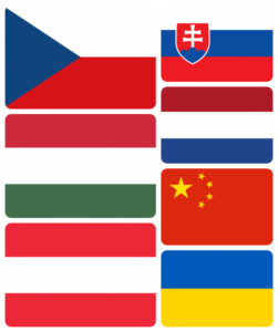 miasta partnerskie - flagi