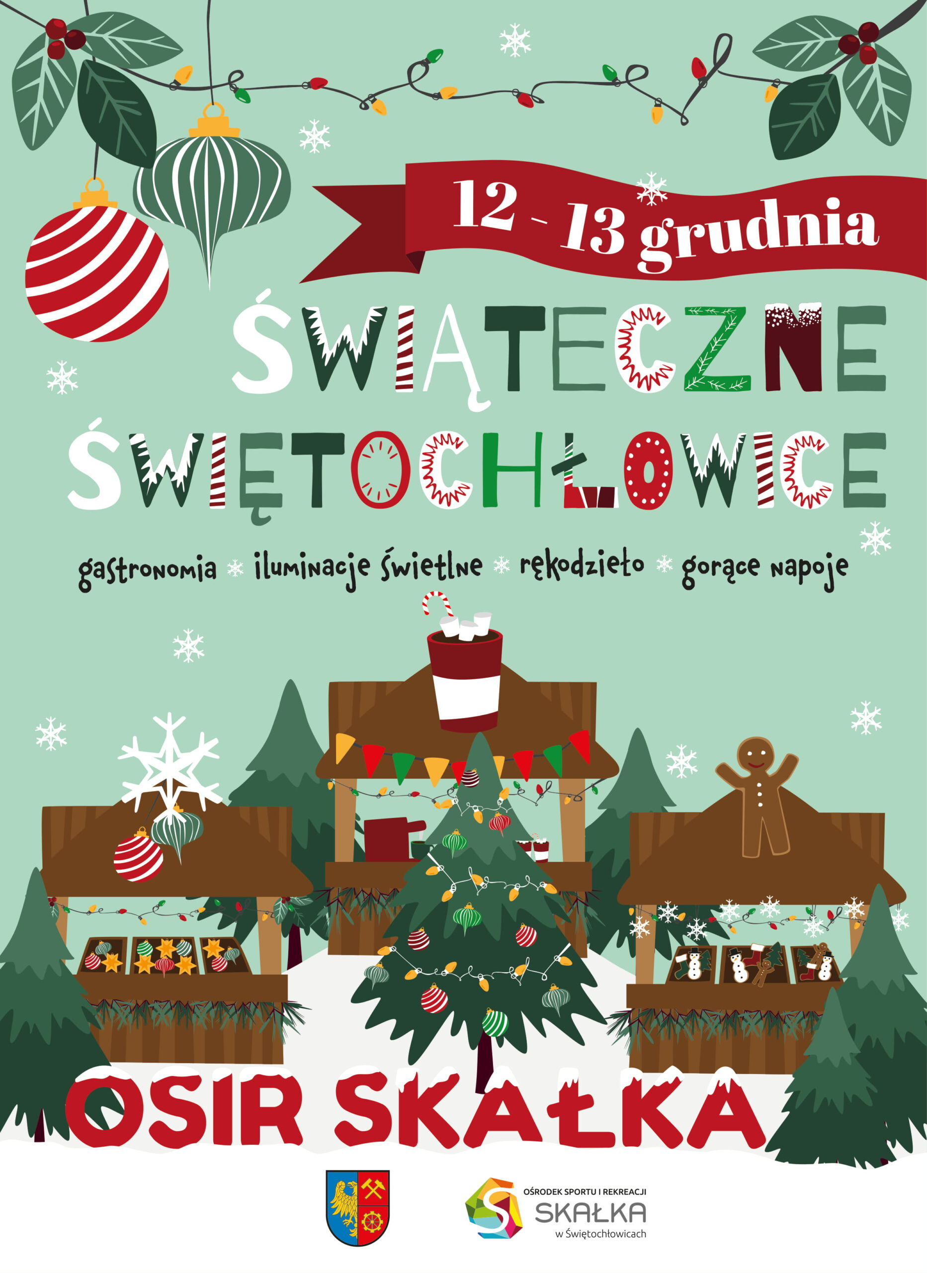 plakat spotkania świątecznego w mieście