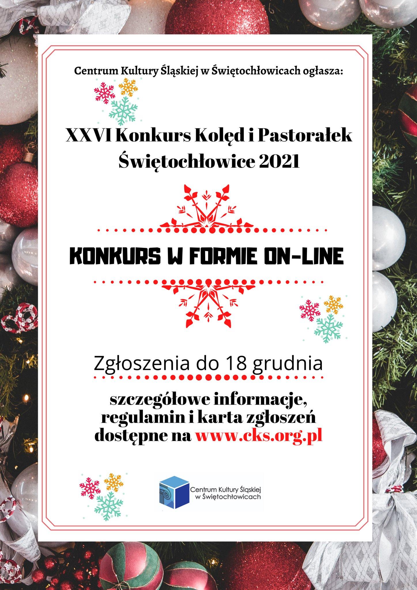 plakat konkursu kolęd CKŚ
