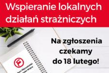 plakat konkursu na wsparcie lokalnych działań strażniczych