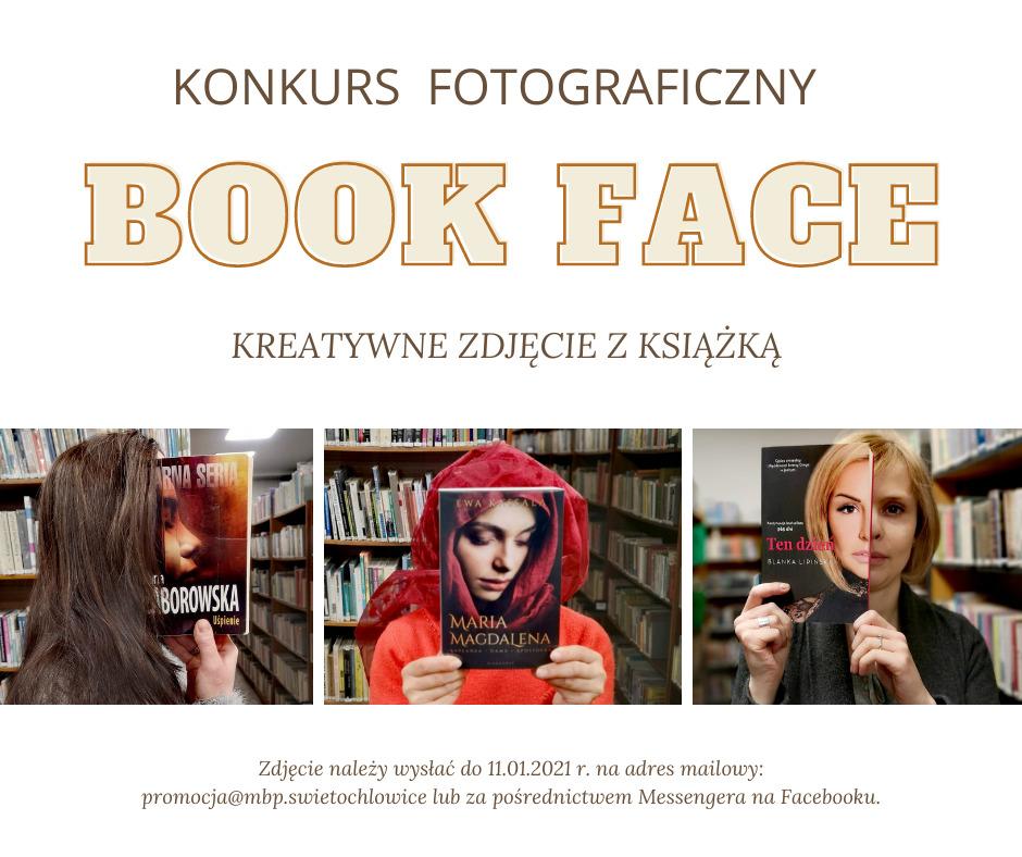 plakat konkursu fotograficznego - kreatywne wykorzystanie ksiażek na zdjęciach
