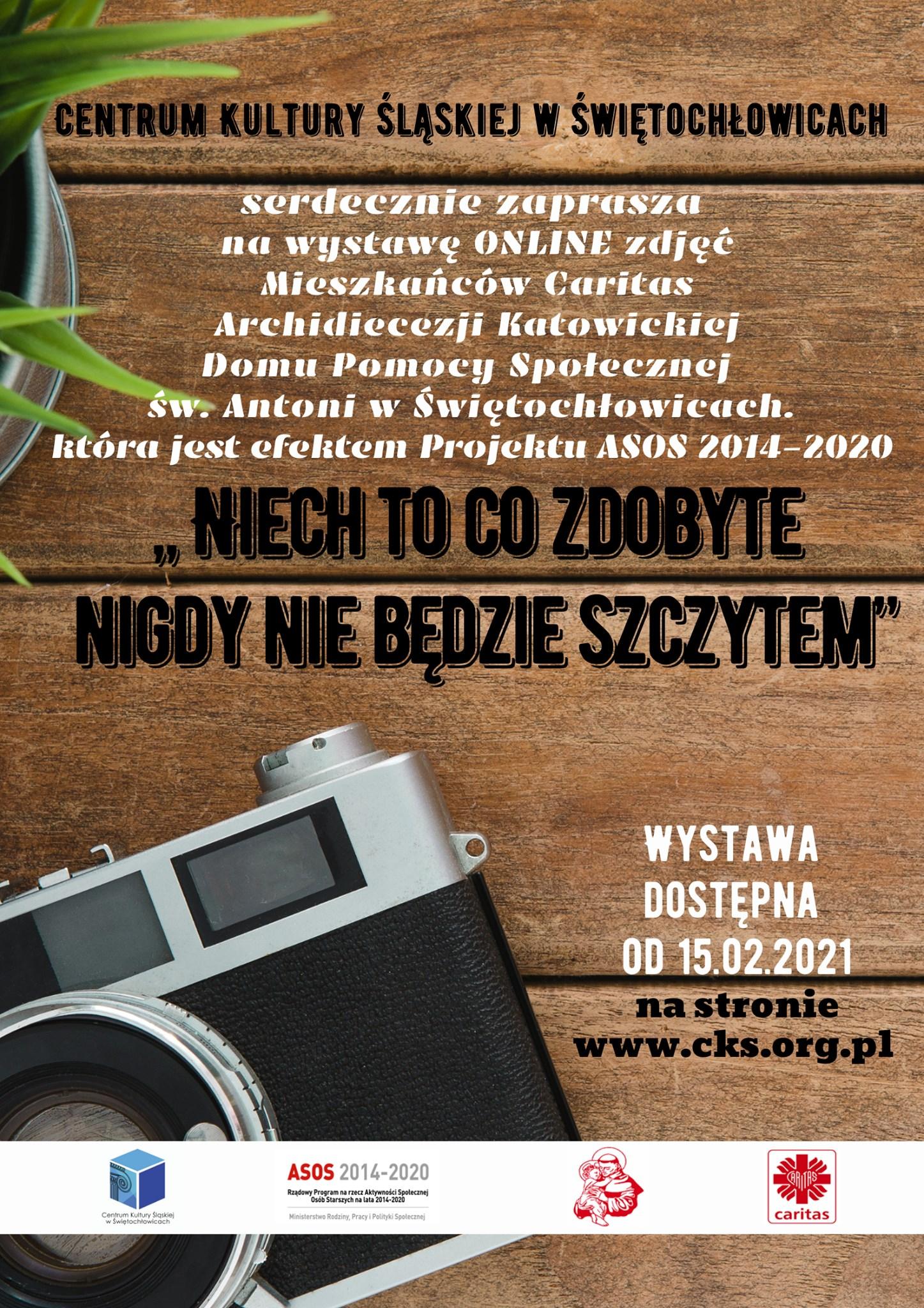 plakat wystawy ze zdjęciem aparatu