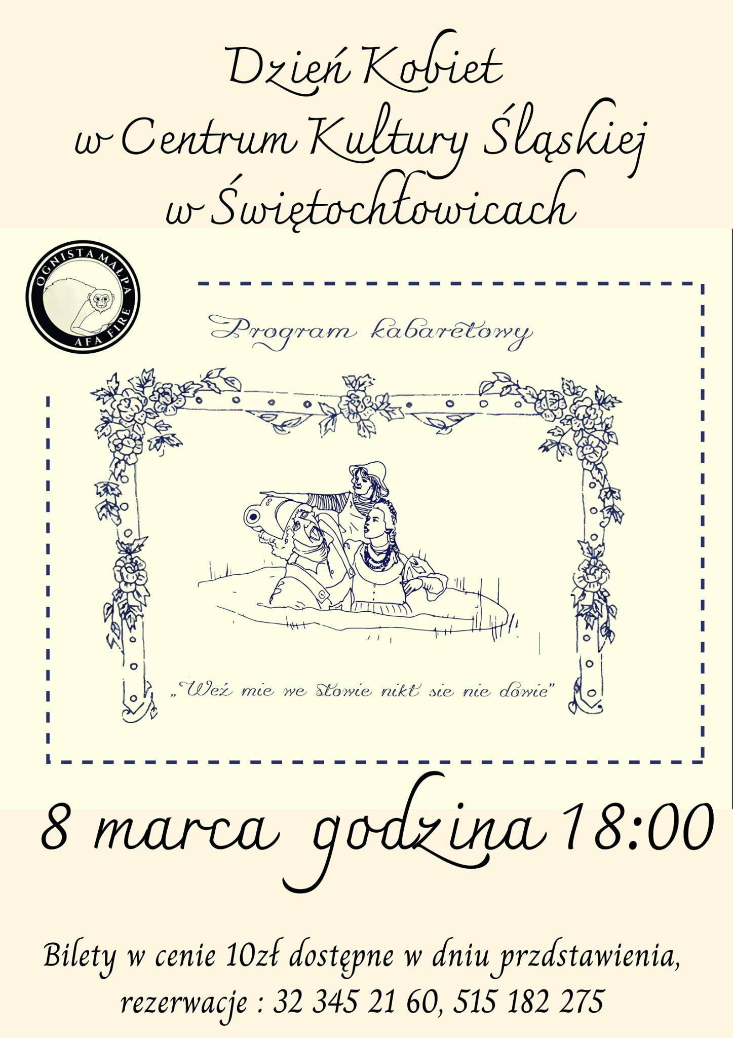 plakat wieczór kabaretowy w CKŚ