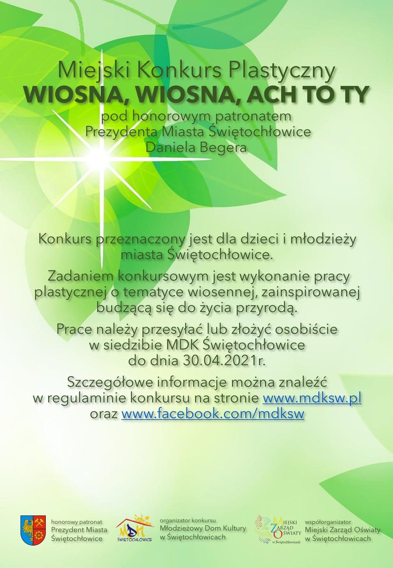 wiosna ach to ty konkurs plastyczny MDK