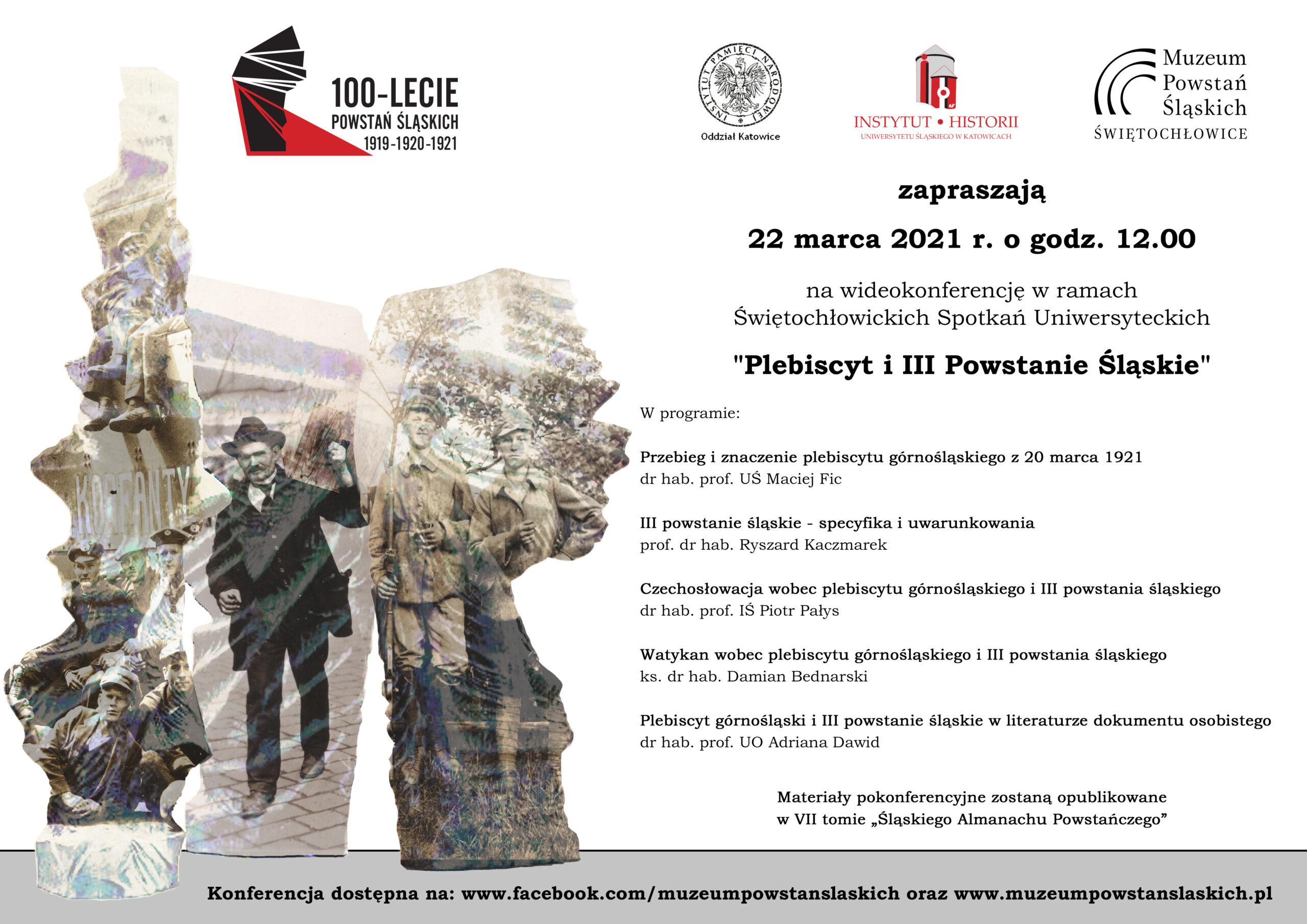 Plakat - Plebiscyt i III Powstanie Śląskie