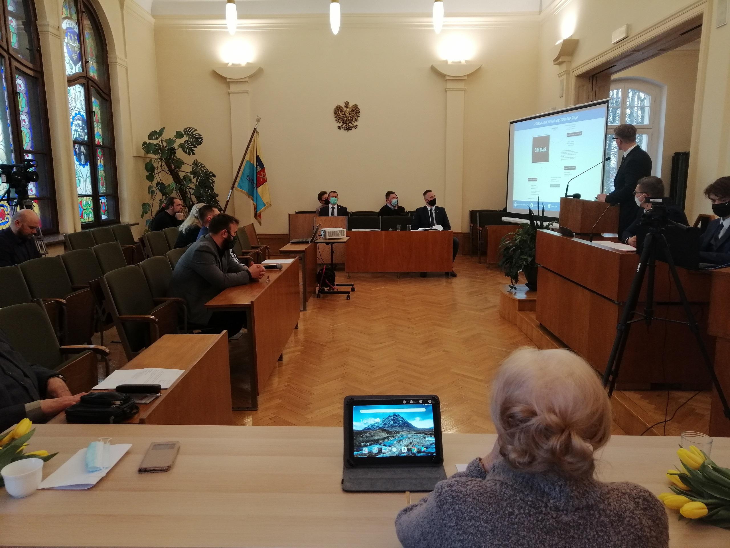 Wystąpienie prezydenta Świętochłowic podczas sesji Rady Miejskiej