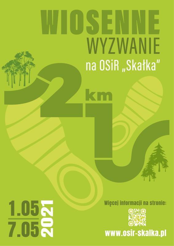 wiosenne wyzwanie 21 km na OSiR Skałka