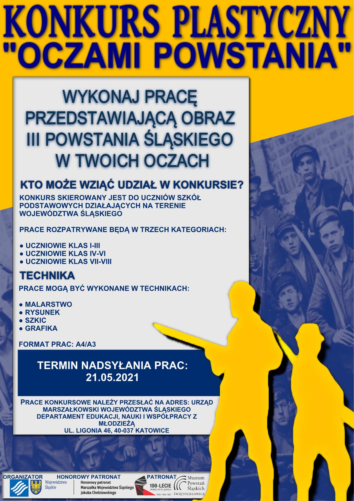 plakat konkursu oczami powstania
