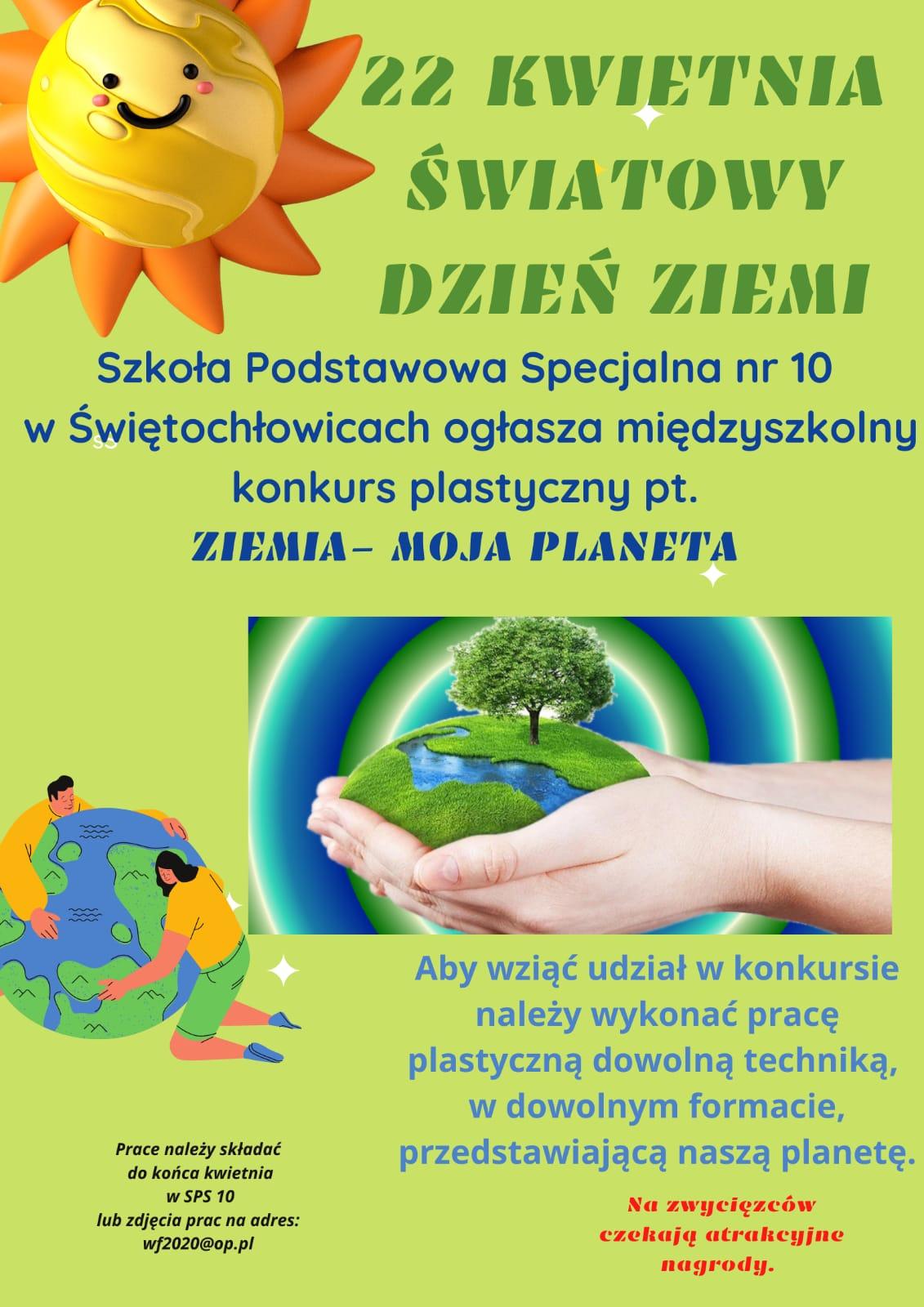 konkurs plastyczny SP 10 Ziemia moja planeta