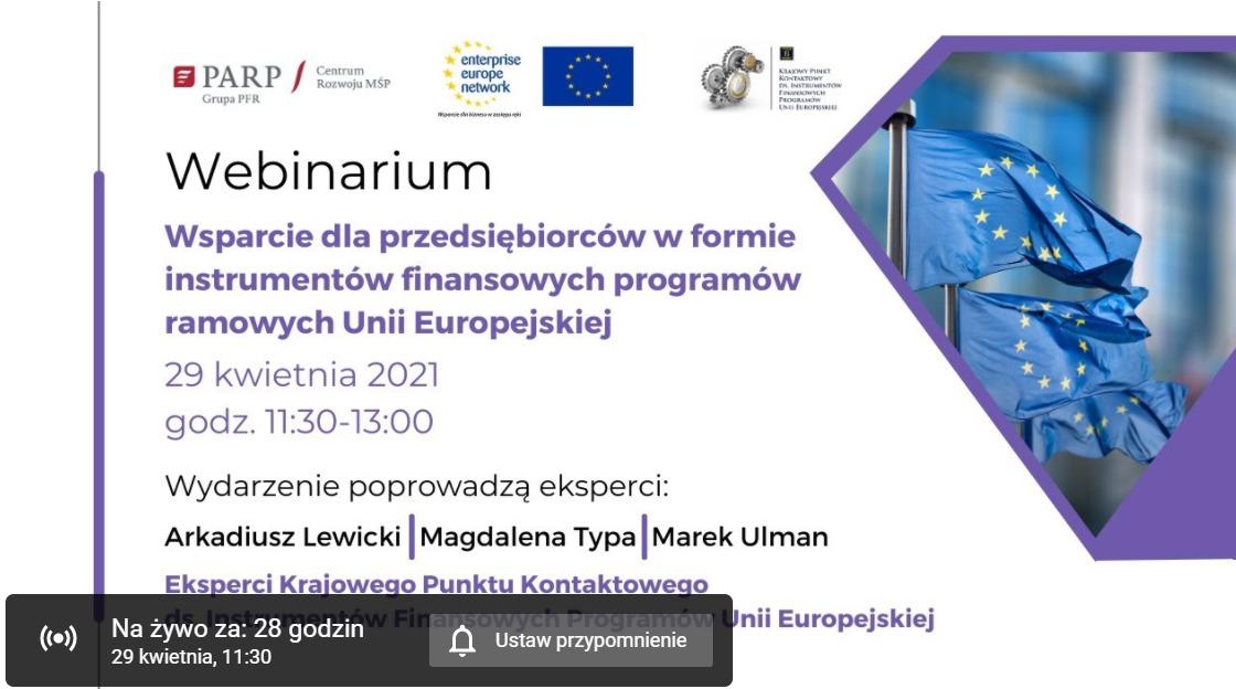 webinarium wsparcie z UE