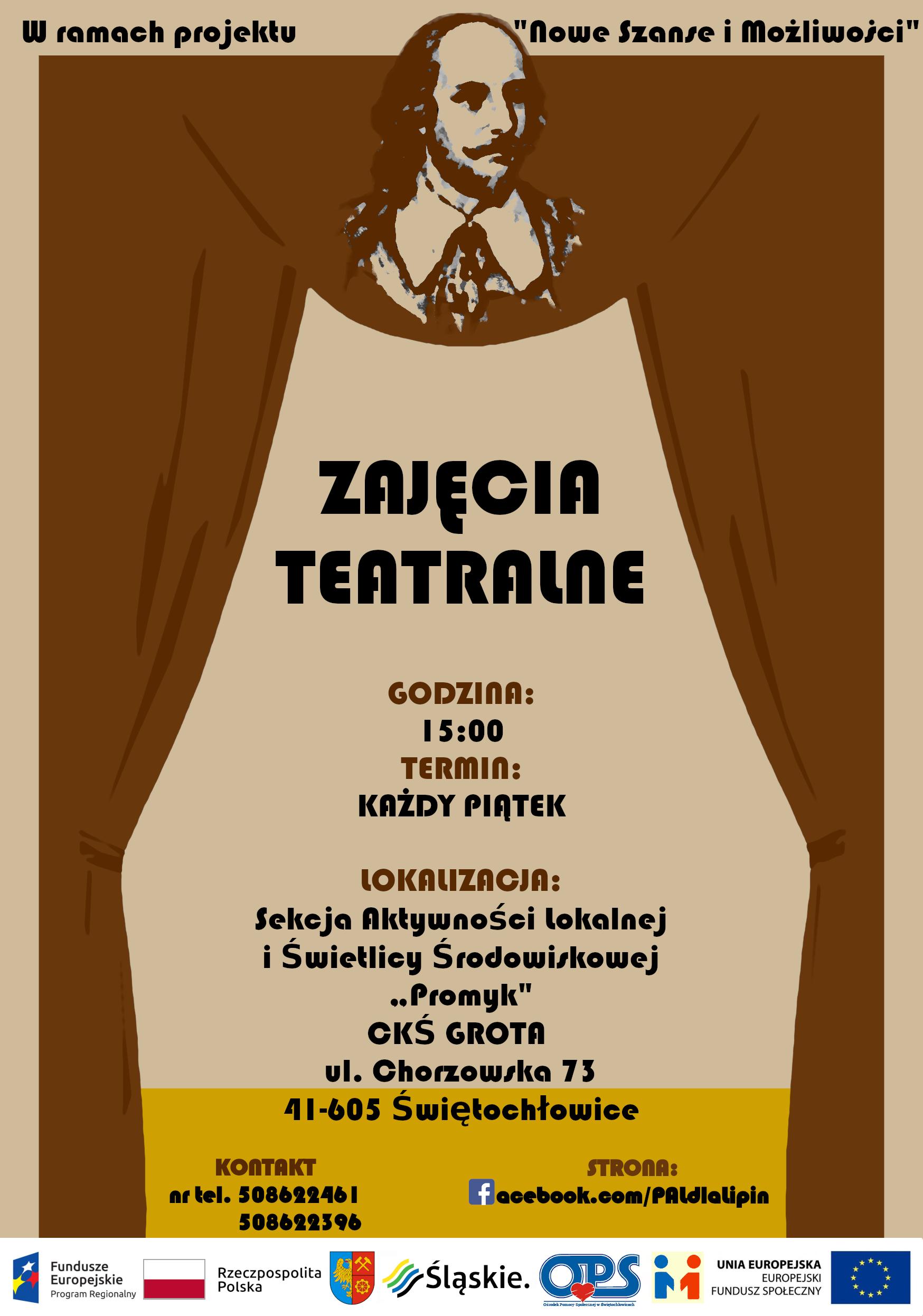 Zajęcia teatralne - plakat
