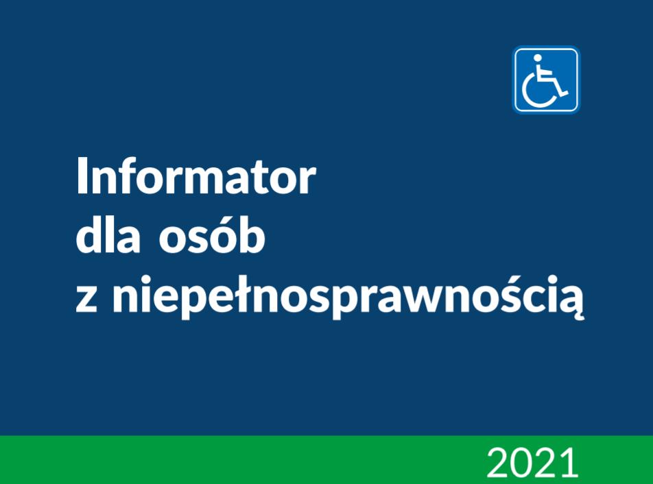 informator dla osób z niepełnosprawnością