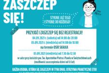 mobilny punkt szczepień plakat