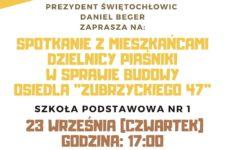 Plakat spotkanie Piaśniki