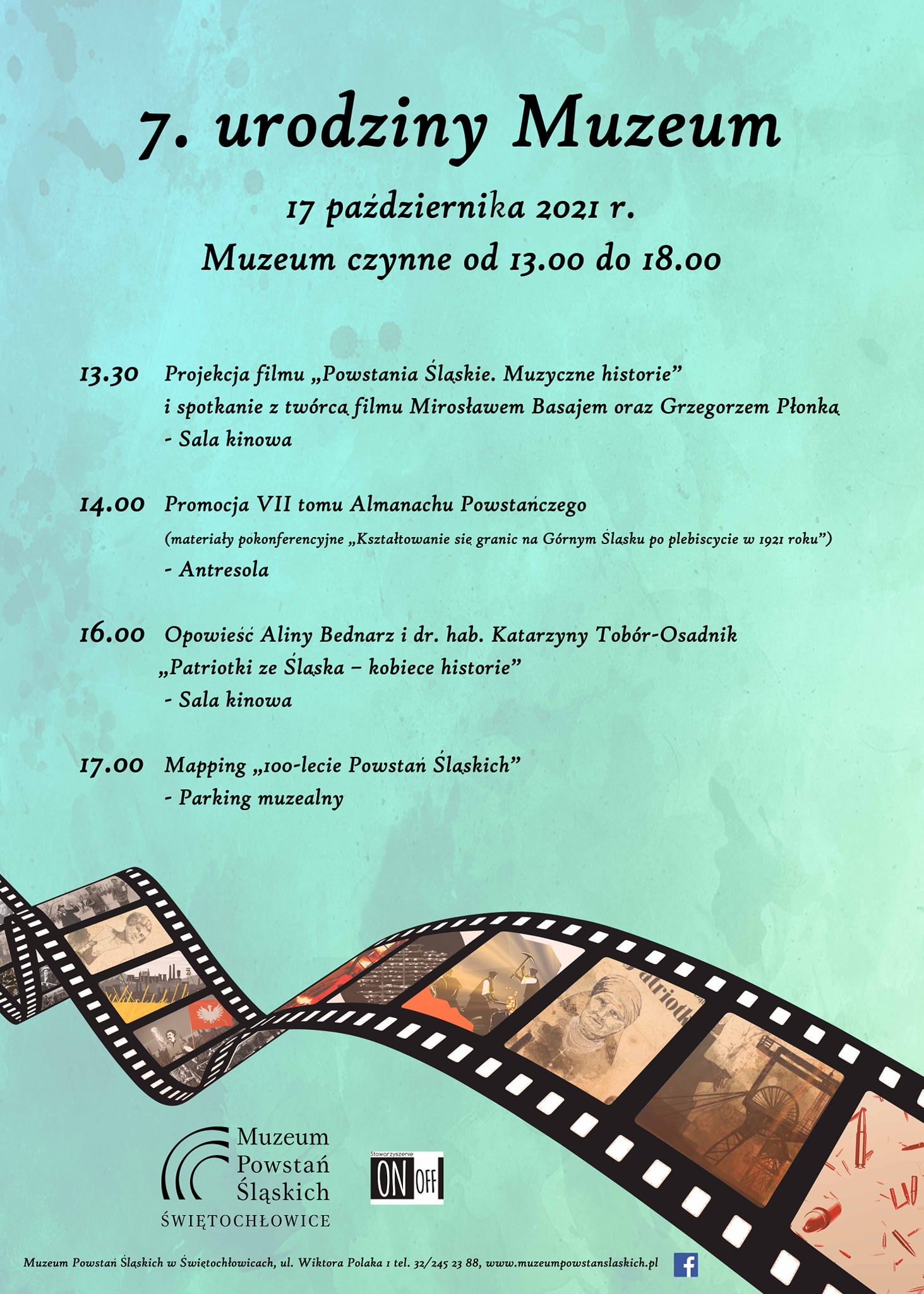 Plakat 7 urodziny Muzeum Powstań Śląskich